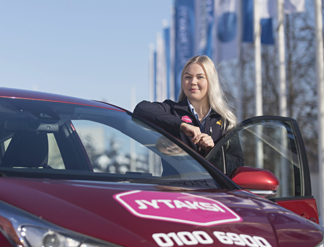 Taksinkuljettaja Jyväskylässä